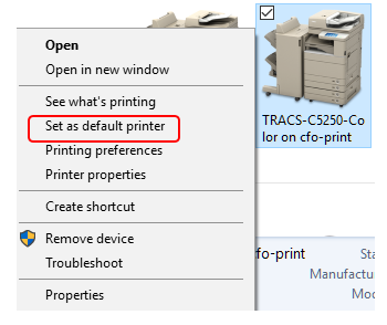 What is my Default Printer and how do I Change it?   ADMIN IT