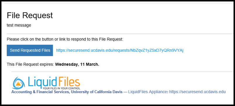 File Request Email Sample