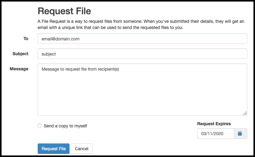 Request File Form
